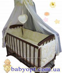 Распродажа Кроватка  матрас кокос  постельный набор 8 эл. Новое