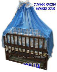 Акция Лучшая кроватка маятник Малыш темная матрас кокос  постельный на