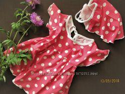 Пакет летней одежды для девочки 6-12 мес