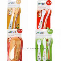 Новые наборы вилочка, ложечка, ножик, дорожный PHILIPS AVENT в ассортименте
