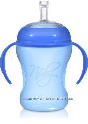 Бутылочка-поильник с трубочкой Nuby Natural Touch