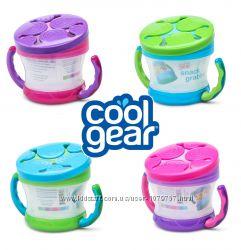 Чашка тарелочка с ручками непросыпайка невысыпайка для снеков Cool Gear