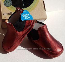 Кожаные детские туфельки туфли челси слипоны Umi Kids Memory Foam