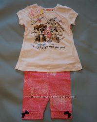 Летний костюм для девочки Собачки