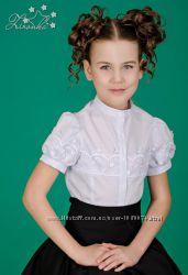 Блуза школьная с коротким рукавом