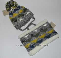 Новый набор шапка и снуд Zara baby р-р 6-12 мес
