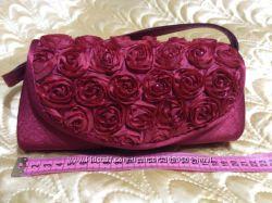 Вечерняя сумочка  клатч бордового цвета
