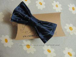 бабочка темно-синяя метелик галстук