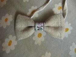 бабочки из льна ручной работы бабочка галстук
