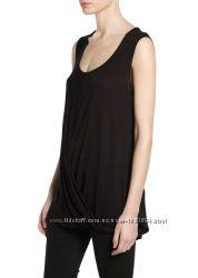 Блуза трикотажная Mango размер S с драпировкой Акция