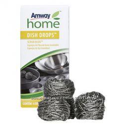 Металлические губки DISH DROPS scrub buds Amway бесп доставка