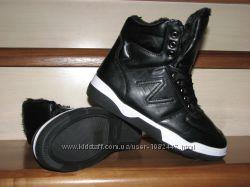 Зимние кроссовки, ботинки с мехом черные высокие 36-41 Польша