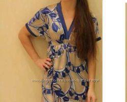 Шелковое платье Benetton