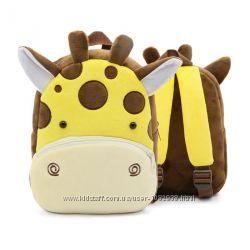 Дитячий плюшовий рюкзак у вигляді жирафа