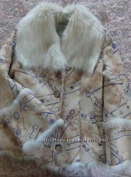 Продам куртка дубленка искусственная женская размер 44-46