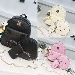 Рюкзак для девочек, мышка с ушками