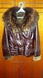 кожаная куртка  зимняя