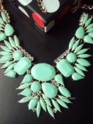 Колье ожерелье геометрия зеленое