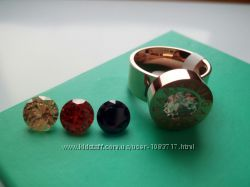 Женское кольцо Bvlgari булгари с сменными камнями