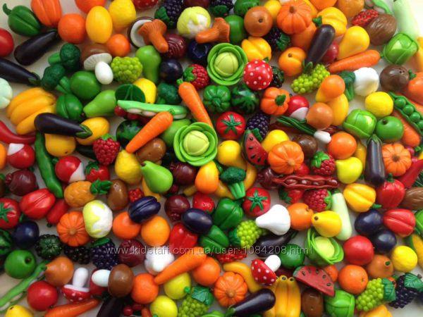 Миниатюрные овощи и фрукты из полимерной глины