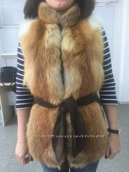 Меховая жилетка с лисицы размер 44-46