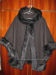 тёплое пончо, пальто, накидка - шерсть - Made in Italy - 42-44рр.