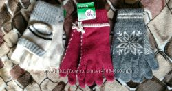 Перчатки, митенки ангора  полушерсть утепленные
