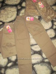 Новые красивые штаны для девочек на весну-лето, на 4-5 лет
