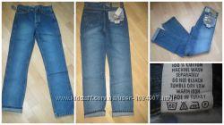 Новые   качественные женские джинсы, прямые, маломерят, с потертостями