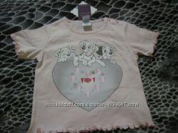 Новая фирменнаяя футболочка для девочки, р. 80 12 мес.