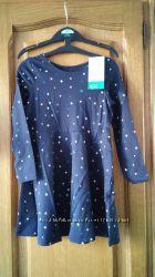 платье хлопковое h&m с цветными звездами
