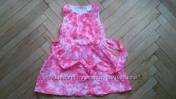Нарядное розовое платье Carters для девочки