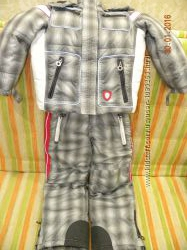 Chicco Зимний термо комбинезон и куртка, краги р. 116 на 6 лет