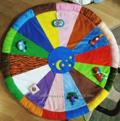 Коврик в детскую из плюша разноцветный