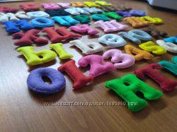 Буквы цифры из фетра