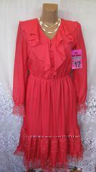 Яркое новое платье с кружевами SIXTH SENSE BY C&A полиэстер S 44-46 В88N