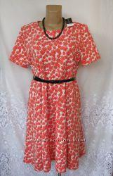 Яркое новое платье с поясом DOROTHY PERKINS полиэстер XL 52-54 А185N