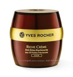 Благотворный Ночной Крем против Морщин с 30 Ценными Маслами Yves Rocher