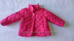 Курточка Matalan на 3-6 мес. Демисезонная. Красивый малиновый цвет. Верх- п