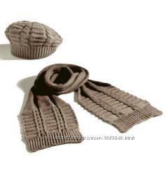 Вязаные шарфик и шапочка от Yves Rocher