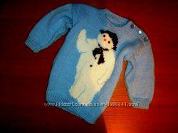 классный свитерок со снеговиком