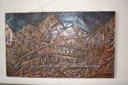 Картина чеканка-метал 90-55см