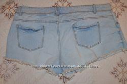 Модные джинсовые шорты с бахромой Denim р. 14 наш 48
