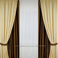Готовые элитные шторы Шторный атлас Шанзолизе