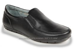 Новые кожаные школьные легкие мягкие туфли-мокасины для школы Eleven Shoe