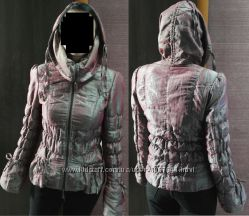 Классная женская деми курточка короткая стеганая с переливом