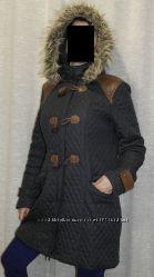 скидка синяя South Стеганая курточка парка застежка клевант женская