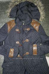 синяя South Стеганая курточка парка застежка клевант женская