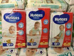 Подгузники Huggies Classic памперсы хагис класик в наличии все размеры 3, 4