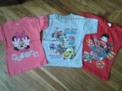 Детские футболки Щенячий патруль, Минни, Гонки. Турция.